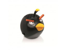 CAIXA DE SOM MINI PARA IPOD/IPHONE/IPAD BLACK BIRD 2.5W RMS PG779G ANGRY BIRDS - 1