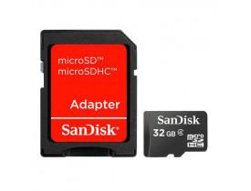 MEMORY CARD 32GB MICRO SD C/ADAPTADOR CLASSE 4 SDSDQM-032G-B35A SANDISK - 1