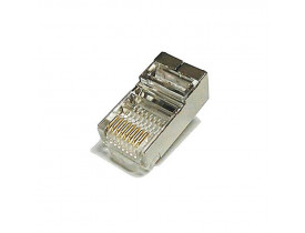 CONECTOR RJ45 MACHO CAT6 8 VIAS BLINDADO MAXTELLECOM - 1