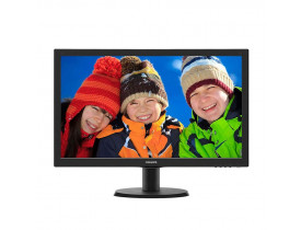 "MONITOR 23.6"" LED FULL HD HDMI/DVI/VESA/MULTIMIDIA 243V5QHABA PRETO PHILIPS - 1"