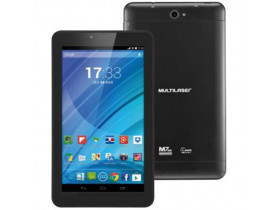 "TABLET 7"" 8GB QUAD CORE WI-FI 3G DUAL CHIP ANDROID 4.4 CAM 2.0 MP PRETO M7 NB223 MULTILASER - 1"