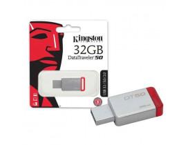 PENDRIVE 32GB USB 3.1 DT50/32GB DATATRAVELER 50 32GB METAL VERMELHO KINGSTON - 1
