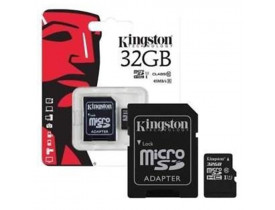 MEMORY CARD 32GB MICRO SD C/ADAPTADOR SD CLASSE 04 KINGSTON - 1