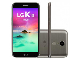 SMARTPHONE* K10 NOVO M250DS OCTA CORE ANDROID 7.0 TELA 5.3 32GB 13MP 4G DUAL CHIP TITANIO LG - 1