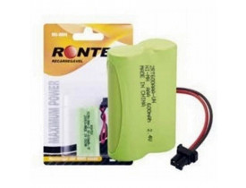 BATERIA REGARREGAVEL P/ TELEFONE SEM FIO 2,4V COM 2 AA 600MAH RONTEK - 1