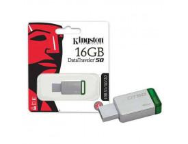 PENDRIVE 16GB USB 3.1 DTS50/16GBZ VERDE KINGSTON - 1