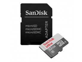 MEMORY CARD 32GB MICRO SD ULTRA C/ADAPT 80MB/S CLASSE 10 SDSQUNS-032G-GN3MA SANDISK - 1