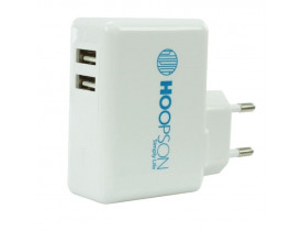 CARREGADOR PAREDE 2 USB CEL-04 PRETO HOOPSON - 1