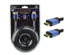 CABO HDMI X HDMI 5 METROS 2.0 4K ULTRAHD 19 PINOS COM FILTRO 018-0520 PIX CHIP SCE - 1