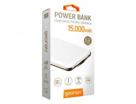 BATERIA PORTATIL 1 USB/USB-C 15000MAH SLIM BRANCO PB15000CW BF GEONAV - 1