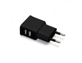 CARREGADOR PAREDE 2 USB 2.1A ESACB2 PRETO GEONAV - 1