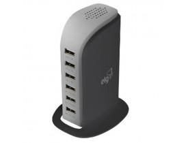ESTAÇÃO DE CARGA PARA SMARTPHONES  CARREGADOR USB DE MESA  6 PORTAS USB - BIVOLT - 40W - TC6S_PRO - 1
