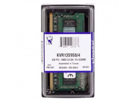 MEMORIA 4GB DDR3 PARA NOTEBOOK 1333MHZ DIMM P/ACER DELL HP LENOVO KCP313SS8/4 KINGSTON - 1