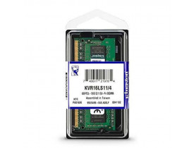 MEMORIA 4GB DDR3 1600 NOTEBOOK 1.35V KVR16S11/4 KINGSTON - 1