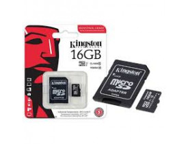 MEMORY CARD 16GB MICRO SDHC C/ADAPTADOR SD CLASSE 10 KINGSTON - 1