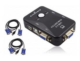 KVM SWITCH 2 PORTAS USB COM CABOS BR CABOS - 1