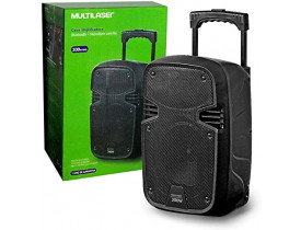 CAIXA DE SOM ATIVA 250W BT/USB/FM/AUX/MIC PRETO SP297 MULTILASER - 1