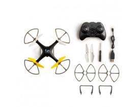 DRONE FUN ALCANCE C/CONTROLE REMOTO PRETO/AMARELO ES253 MULTILASER - 1