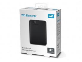 """HD EXTERNO 4TB ELEMENTS 2.5"""" USB 3.0 WDBU6Y0040BBK WESTERN DIGITAL - 1"""