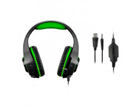 HEADSET C/MICROFONE GAMER WARRIOR RAMA P2 P3 E USB PH299 MULTILASER - 1