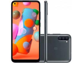 """SMARTPHONE** GALAXY A11 SM-A115MZBGZ  64GB DUAL 4G TELA 6.4"""" CAM 13MP OCTACORE 1.8 GHZ PRETO SAMSUNG - 1"""