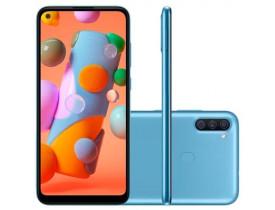 """SMARTPHONE** GALAXY A11 SM-A115MZBGZTO 64GB DUAL 4G TELA 6.4"""" CAM 13MP OCTACORE 1.8 GHZ AZUL SAMSUNG - 1"""
