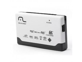 LEITOR CARTAO USB 2.0 EXTERNO 46X1 AC076 MULTILASER - 1