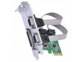 PLACA PCI EXPRESS  C/2 SERIAIS + 01 PARALELA PL P2IE1-LP VINIK - 1