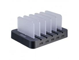 ESTACAO PARA CARREGAMENTO C/5 PORTAS USB BRANCO AKSC03WH AKASA - 1