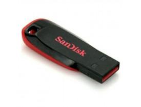 PENDRIVE 8GB USB CRUZER BLADE PRETO C/VERMELHO SDCZ50-008G-B35 SANDISK - 1