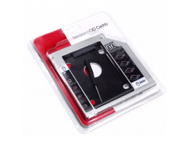 ADAPTADOR 12.7MM DVD PARA HD OU SSD SATA NOTEBOOK DRIVE CADDY - 1