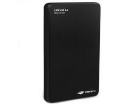 """CASE PARA HD 2.5"""" USB 2.0 PRETO CH-200BK C3TECH - 1"""