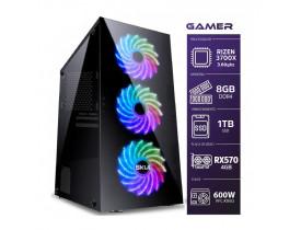 COMPUTADOR GAMER 7000 RYZEN 3700X 3.60GHZ DDR4 8GB  SSD 1TB  PLV  RX570 4GB FONTE 600W - 1