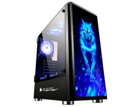 GABINETE GAMER SEM FONTE MID TOWER BG-026 BLUECASE - 1