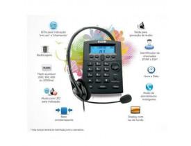 TELEFONE C/HEADSET ELGIN HST-8000 COM IDENTIFICADOR DE CHAMADAS E BASE ANTIDERRAPANTE - 1