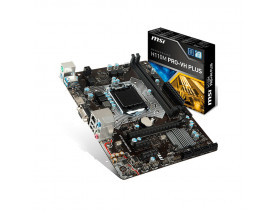 PLACA MAE LGA1151 H110M-PRO VH PLUS DDR4 USB 2.0/3.0 CELERON/PENTIUM/CORE I3/I5/I7 6° E 7° GER MSI - 1