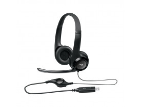 HEADSET* C/MICROFONE USB H390 PRETO 981-000014 LOGITECH - 1