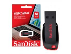 PENDRIVE 16GB USB CRUZER BLADE PRETO SDCZ50-016G-B35 SANDISK - 1